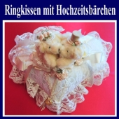Ringkissen mit Hochzeitsbärchen