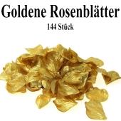 Goldene Rosenblätter, 144 Stück