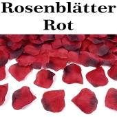 Rosenblaetter rot mit Farbverlauf, 100 Stueck
