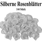 Silberne Rosenblätter, 144 Stück