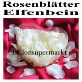 Rosenblätter Elfenbein