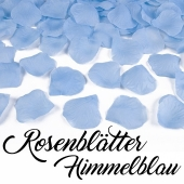 Rosenblätter Himmelblau