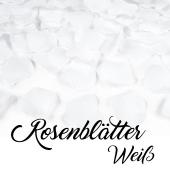 Rosenblätter Weiß