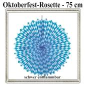 Rosette Oktoberfest Dekoration, 75 cm, schwer entflammbar