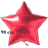 Luftballon aus Folie, Sternballon, Rot, 90 cm