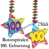 Deko-Hänger, Rotorspiralen Zahl 100, 2 Stück