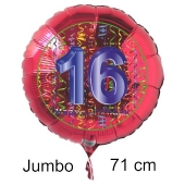 Großer Zahl 16 Luftballon aus Folie zu