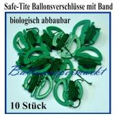 Safe Tite Ballonverschlüsse mit Ballonbändern, 10 Stück, biologisch abbaubar