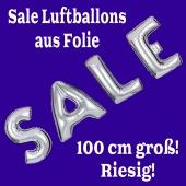 Sale Luftballons Schaufensterdekoration, 1 Meter groß, Silber