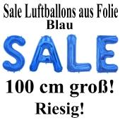 Sale Luftballons Schaufensterdekoration, 1 Meter groß, Blau