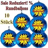 Sale Reduziert! %, 10 Stück blaue Rundballons zur Befüllung mit Luft, zu Werbeaktionen, Rabattaktionen, Schaufensterdekoration