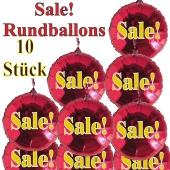 Sale! 10 Stück rote Rundballons zur Befüllung mit Luft, zu Werbeaktionen, Rabattaktionen, Schaufensterdekoration