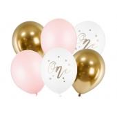 Luftballons zum 1. Geburtstag Mädchen, 6 Stück