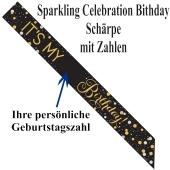 Schärpe Sparkling Celebration Birthday mit Zahlen