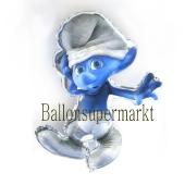 Schlumpf Ballon aus Folie ohne Ballongas Helium
