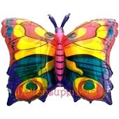 Regenbogen Schmetterling Luftballon aus Folie inklusive Helium