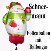 Schneemann Luftballon aus Folie mit Ballongas-Helium