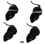 4 schwarze Mäuse Halloween Partydekoration