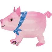 Airwalker Schweinchen mit Helium