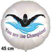 Schwimmsport Luftballon. You are the Champion! 45 cm inklusive Helium