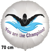 Schwimmsport Luftballon. You are the Champion! 70 cm ohne Helium