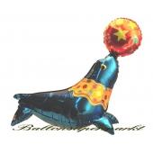 Seehund Luftballon mit Helium Ballongas