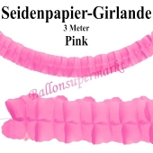 Seidenpapier-Girlande Pink, 3 Meter