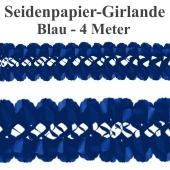 Seidenpapier-Girlande Blau, 4 Meter