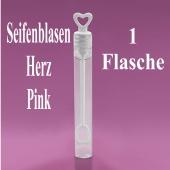Seifenblasen Hochzeit, Wedding Bubbles Herz pink, 1 Stück