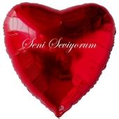 """Herzluftballon in Rot """"Seni Seviyorum"""""""