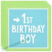 1st Birthday Boy, 20 Servietten zum 1. Kindergeburtstag