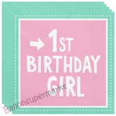 1st Birthday Giel ,20 Servietten zum 1. Kindergeburtstag