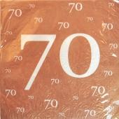 Servietten-70.Jubilaeum-Geburtstag-Jahrestag