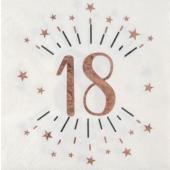 Geburtstagsservietten Rosegold Sparkle Birthday, 10 Stück