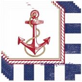 Anchors Aweigh, Mottoparty Maritim, Tischdeko-Servietten, Partydekoration
