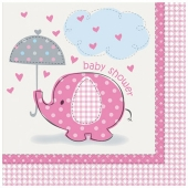 Servietten Baby Shower, pink