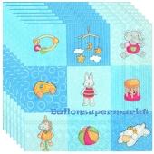 Servietten Geburt, Taufe, Babyparty Junge, Babies Toys, blau