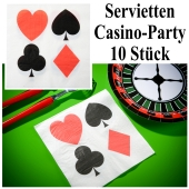 Papierservietten Kartenspiel, Casino Party Tischdekoration