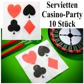 Papierservietten Kartenspiel, Casino Party Tischdekoration