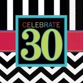 Servietten Celebrate 30 zum 30. Geburtstag