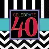 Celebrate 40, Servietten zum 40. Geburtstag