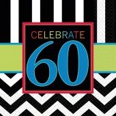 Servietten Celebrate 60 zum 60. Geburtstag