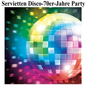 Disco Party, Mottoparty 70er Jahre, Tischdeko-Servietten, Partydekoration