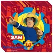 Party-Servietten, Feuerwehrmann Sam, Papierservietten zum Kindergeburtstag