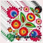 Servietten Flower Power, Dekoration Hippie-Party