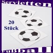 Tischdeko Servietten Fußball