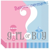 Gender Reveal Servietten, Girl or Boy?