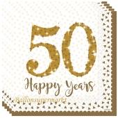 50 Happy Years, Servietten zur Goldenen Hochzeit