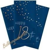 Servietten Elegant True Blue 18 zum 18. Geburtstag, 10 Stück