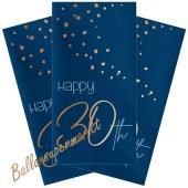 Servietten Elegant True Blue 30 zum 30. Geburtstag, 10 Stück